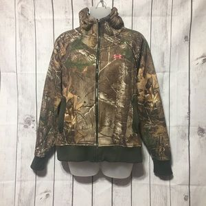 Under Armour Cold Gear Camo Hoodie Realtree Xtra M